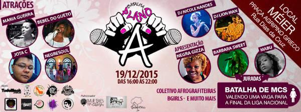 Batalha Plano A neste fim de semana no Rio de Janeiro