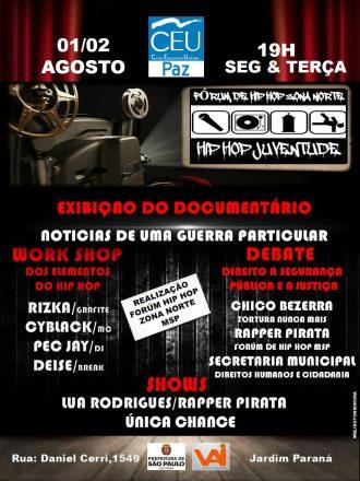 Fórum de Hip Hop da Zona Norte flyer