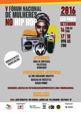 V Fórum Nacional de Mulheres no Hip Hop