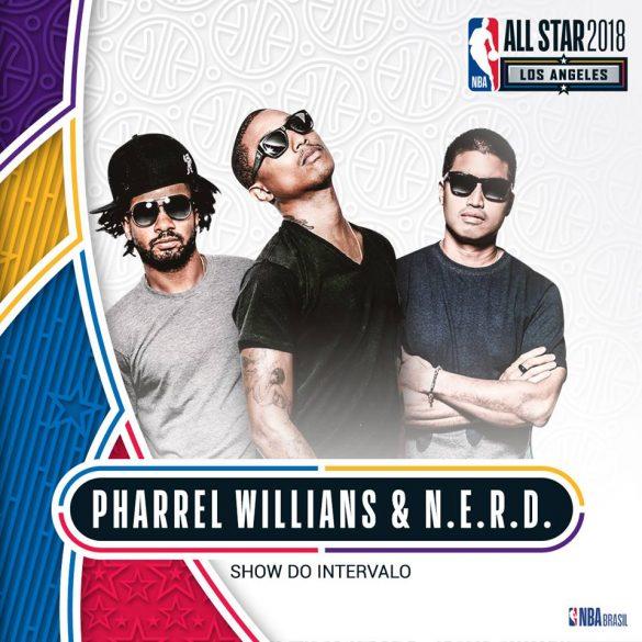 Pharrell Williams, N.E.R.D e Fergie são atrações no All-Star Game em Los Angeles